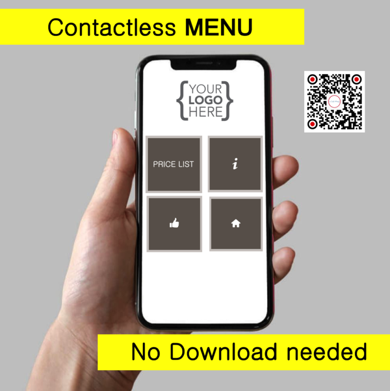 CONTACTLESS RESTAURANT MENU