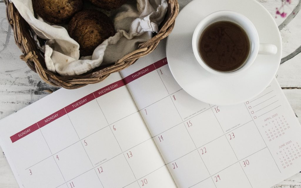 Calendar to illustrate the post-COVID restaurant reopening dates