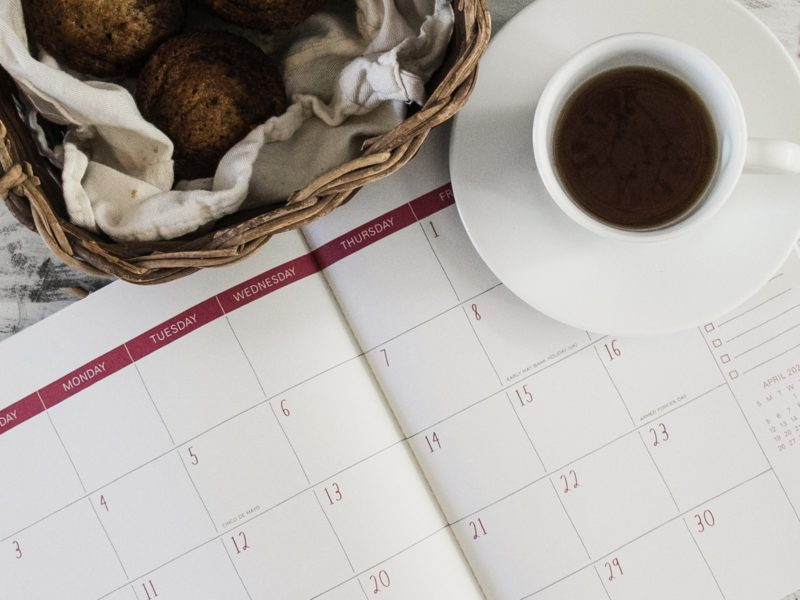 Calendar to illustrate post-COVID restaurant reopening dates