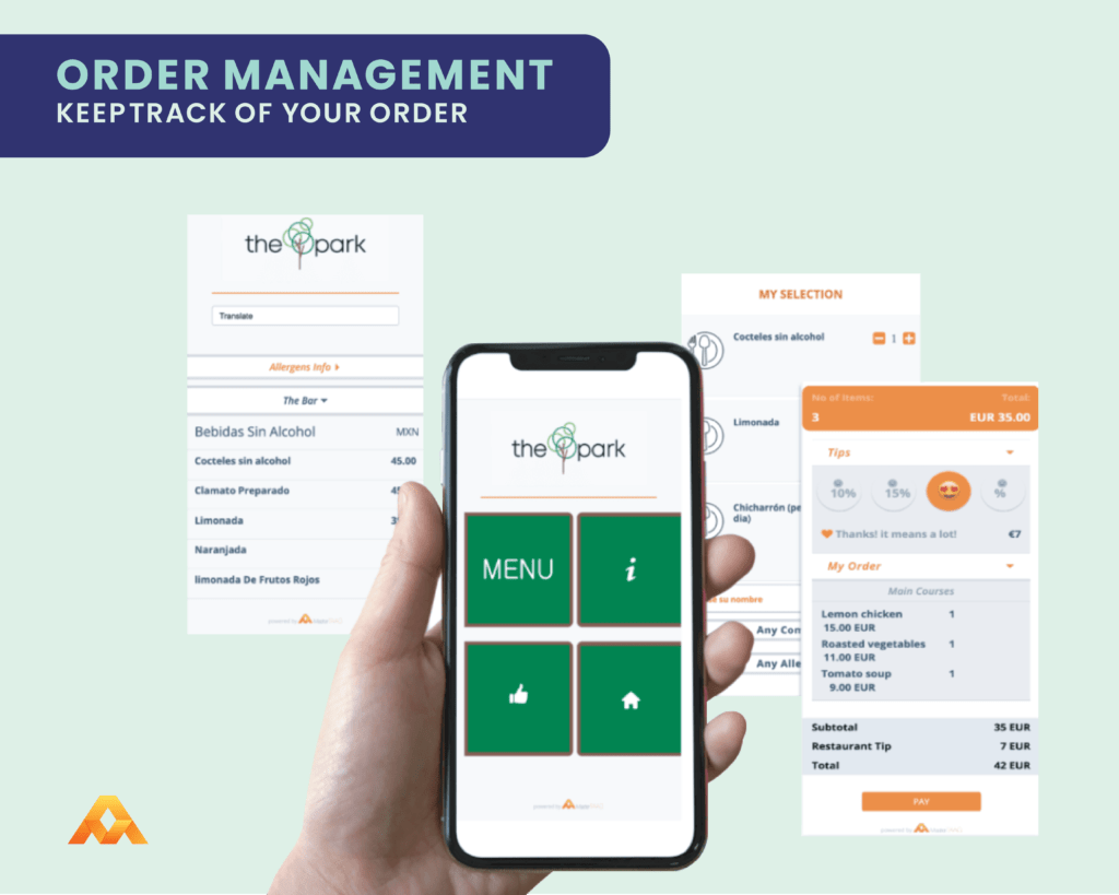 order management feature to help you keeptrack of orders