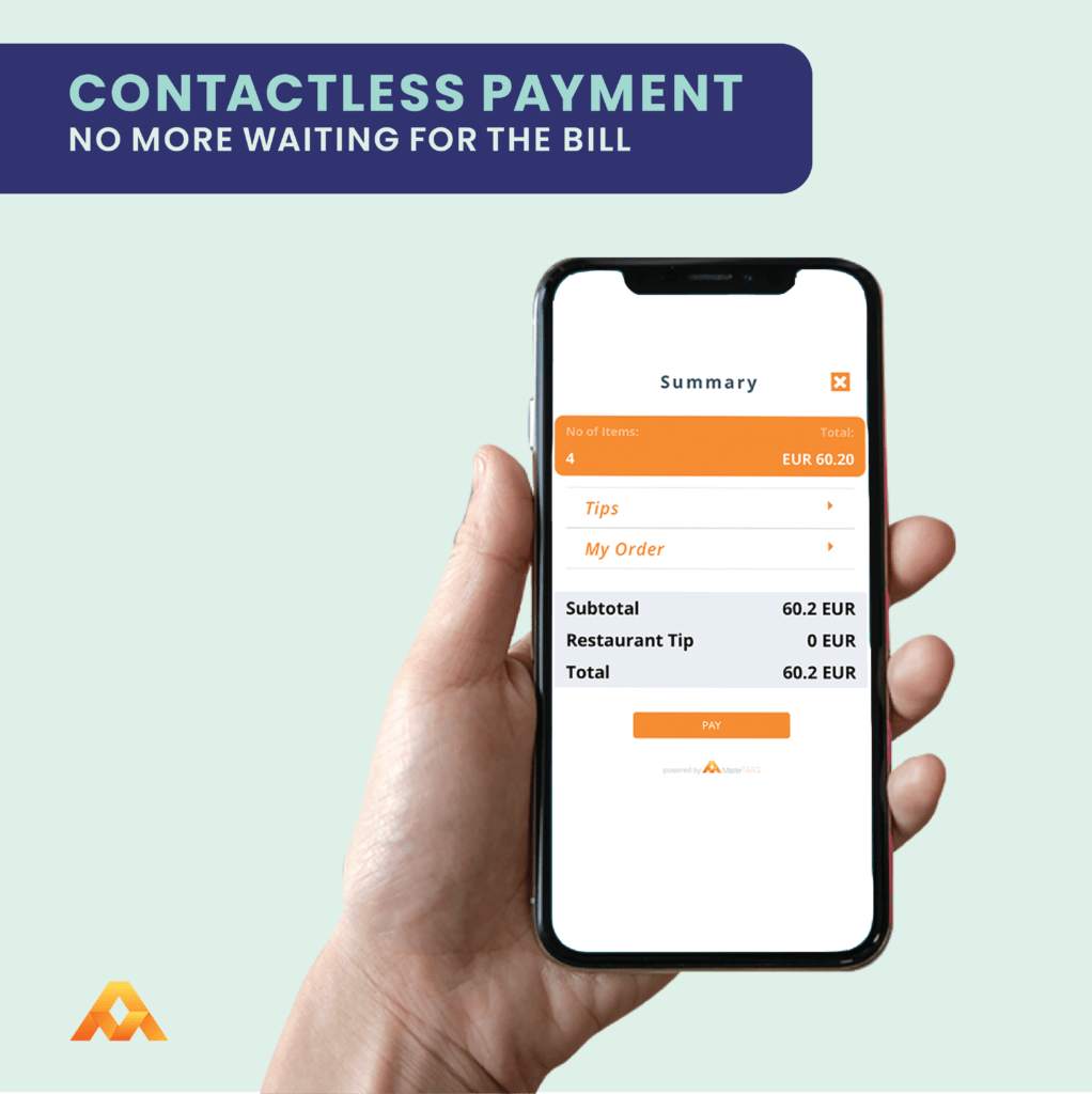 contactless payment integration feature to help your customers pay easier